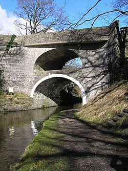 Double Arched bridge over the canal at East Marton - geograph.org.uk - 758201.jpg