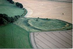 Alfred's Castle, Oxfordshire, aerial view from North.jpg
