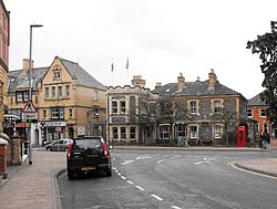 Llandrindod Wells-Junction of South Crescent with Temple Street.jpg