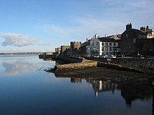 Caernarfon walled town, with Anglesey in the distance. - geograph.org.uk - 28586.jpg