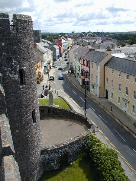 File:Pembroke Main Street from the castle.jpg