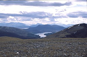 Geal Charn - view down to Loch Ossian - geograph.org.uk - 262301.jpg