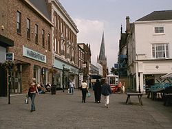 Chesterfield High Street and Crooked Spire - geograph.org.uk - 299634.jpg
