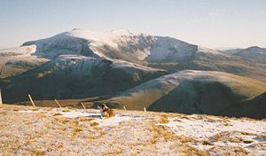Snowdon and its acolytes from the slopes of Moel Eilio - geograph.org.uk - 1730676.jpg