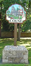 Signpost in Colne