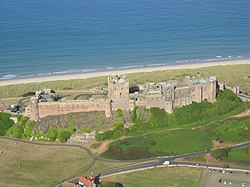 Aerial photo of Bamburgh Castle - geograph.org.uk - 654112.jpg