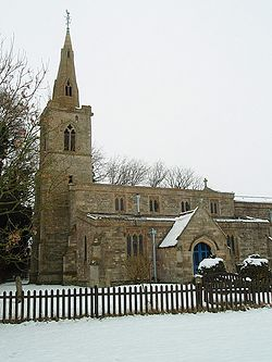 Snow At Steeple Gidding Church - geograph.org.uk - 1150279.jpg