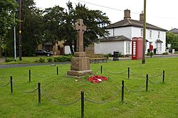Village green, with war memorial and old-fashioned telephone box - geograph.org.uk - 443930.jpg