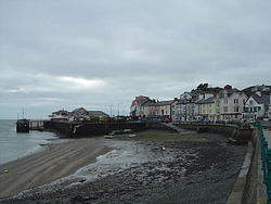 Aberdovey river on a cloudy day