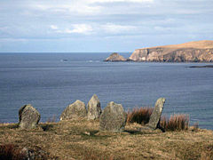 Glengad Stone circle overlooking Broadhaven Bay Kilcommon, Erris North Mayo.jpg