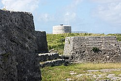 Martello Tower seen from Ferry Island Fort, Ferry Reach, Bermuda 2011.jpg